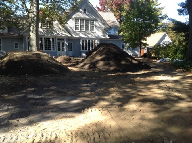 Organic Lawn Installation on a New Construction Site – Mamaroneck NY